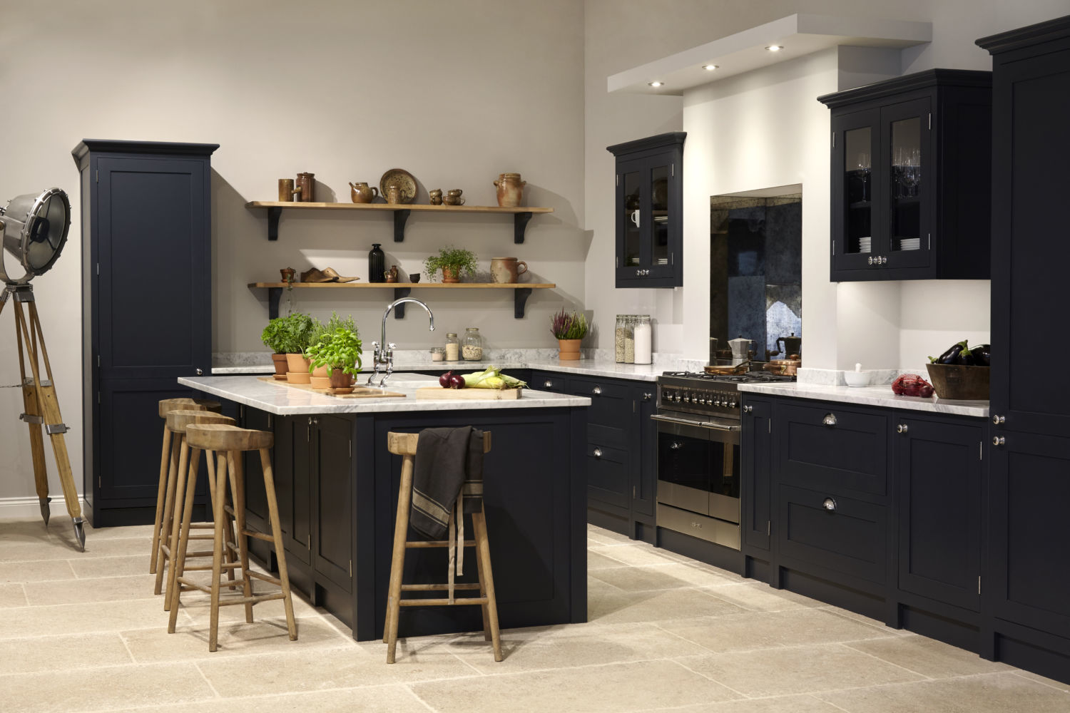 Grey Shaker Kitchens, Olive & Barr