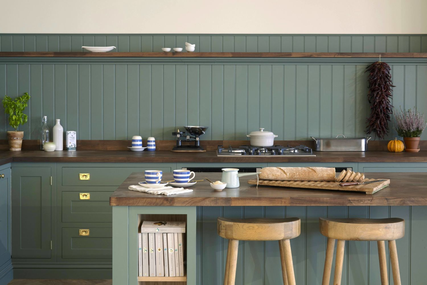 Green Shaker Kitchens, Olive & Barr